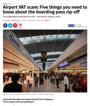 Airport VAT scam: Five things you need to know about the boarding pass rip-off